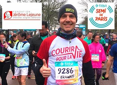 semi de paris 2018 pour la fondation Jérôme Lejeune